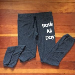 Wild fox sweatpants rosé all day size small jogger